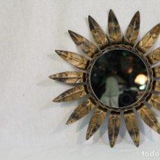 Antigüedades: ESPEJO - SOL - METAL. Lote 127616939