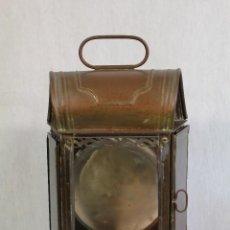 Antiquitäten - farol de tren antiguo de laton - 127617631