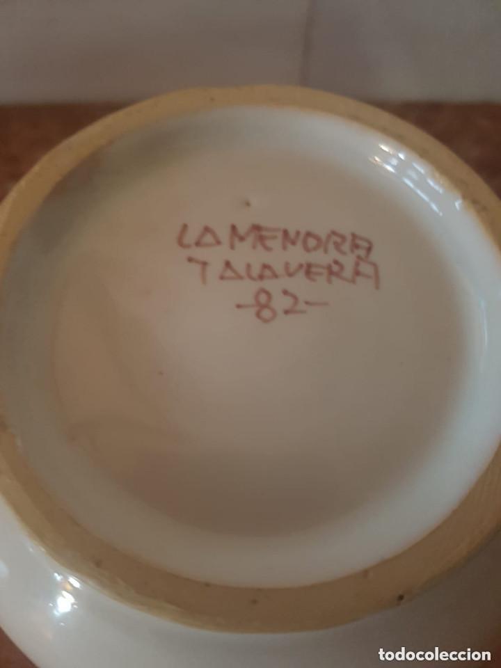 Antigüedades: jarron ceramica talavera con sello en base - Foto 3 - 127620963