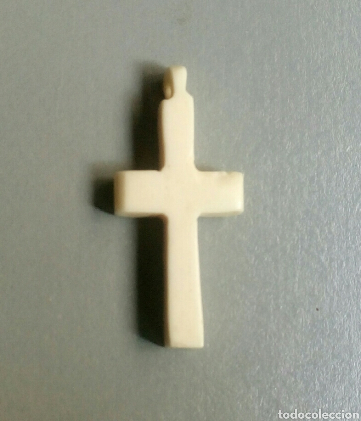 Antigüedades: Bonita cruz antigua de marfil hueso - Foto 2 - 127621927