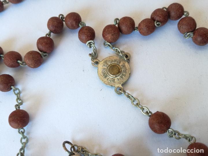 Antigüedades: ROSARIO DE FLORES DEL JARDIN DE LA SANTA AVILA - EN SU CAJA ORIGINAL - Foto 3 - 127627231