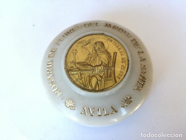 Antigüedades: ROSARIO DE FLORES DEL JARDIN DE LA SANTA AVILA - EN SU CAJA ORIGINAL - Foto 11 - 127627231