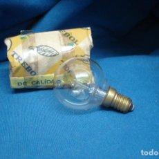 Antigüedades: ANTIGUA BOMBILLA TREBOL ESFERA MIÑON 125 V. 40 W.. Lote 127630739