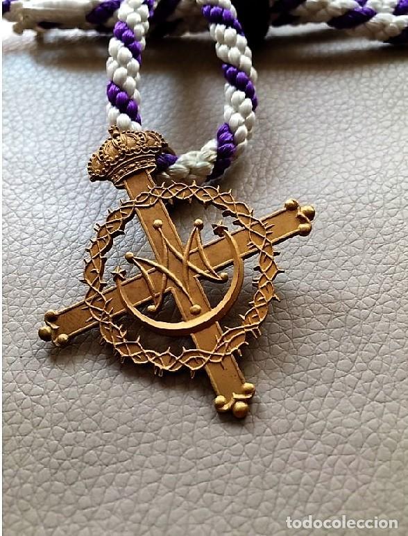JAÉN. MEDALLA DE COFRADÍA SANTO ROSTRO, N.P. JESUS NAZARENO Y NUESTRA SRA. CAPILLA EN MADRID (Antigüedades - Religiosas - Medallas Antiguas)