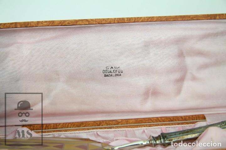 Antigüedades: Antigua Pala de Postre Art Déco - Mango de Plata Repujada - Casa Deulofeu, Badalona -Principios S XX - Foto 3 - 127638883