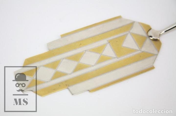 Antigüedades: Antigua Pala de Postre Art Déco - Mango de Plata Repujada - Casa Deulofeu, Badalona -Principios S XX - Foto 6 - 127638883