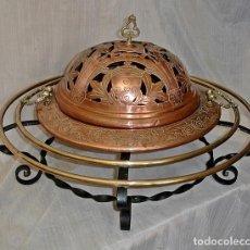 Antigüedades: BRASERO CON SOPORTE 70CM.. Lote 127645211