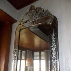 Antigüedades: ANTIGUO ESPEJO VENECIANO DE MURANO SIGLO XIX. Lote 176689453