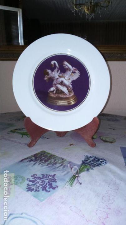 PLATO CISNE CON ANGELOTES (EDICION LIMITADA Y NUMERADA) PERFECTO ESTADO (Antigüedades - Porcelanas y Cerámicas - Algora)