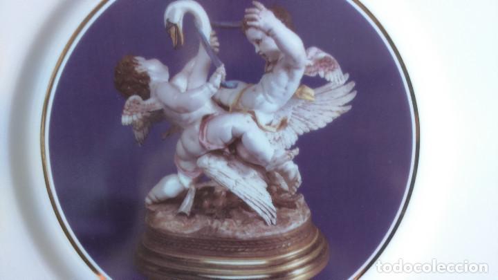 Antigüedades: Plato cisne con angelotes (Edicion limitada y numerada) Perfecto Estado - Foto 3 - 127654671