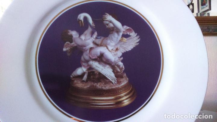 Antigüedades: Plato cisne con angelotes (Edicion limitada y numerada) Perfecto Estado - Foto 4 - 127654671