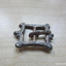 Antigüedades: HEBILLA PLATEADA RECTANGULAR POSIBLE S XVI- XVII. Lote 127658495