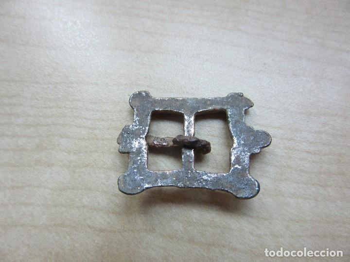 Antigüedades: Hebilla plateada rectangular Posible S XVI- XVII - Foto 4 - 127658495