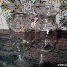 Antigüedades: * ANTIGUOS BOTES DE VIDRIO SOPLADO .18 CM. Lote 127659191