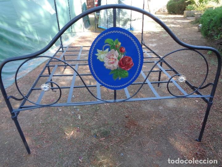 Antigüedades: cama hierro plegable siglo XIX - Foto 2 - 127666959