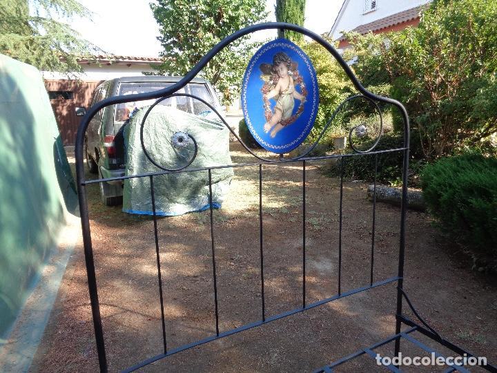 Antigüedades: cama hierro plegable siglo XIX - Foto 3 - 127666959