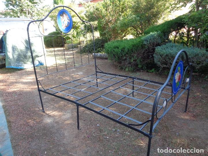 Antigüedades: cama hierro plegable siglo XIX - Foto 4 - 127666959