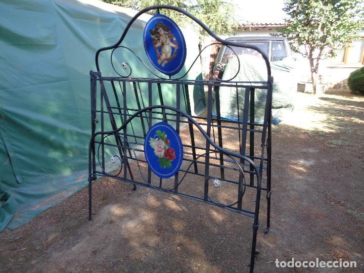 Antigüedades: cama hierro plegable siglo XIX - Foto 5 - 127666959