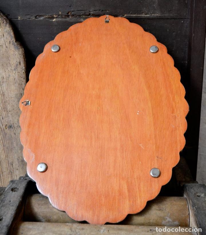 Antigüedades: ESPECTACULAR ESPEJO DE PLATA REPUJADA * SELLADA * CONTRASTES * 52,5CM X 38,5CM - Foto 9 - 127667487