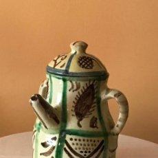 Antigüedades: CERAMICA DE TERUEL - JARRA DE TRES ASAS (SIN FIRMA). Lote 127672411