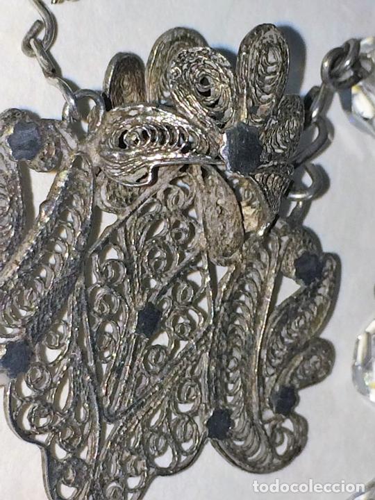 Antigüedades: GRAN ROSARIO. FILIGRANA DE PLATA. CRISTAL TALLADO A MANO. ESPAÑA. CIRCA 1850 - Foto 8 - 127739935
