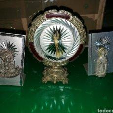 Antigüedades: LOTE DE 3 FIGURAS RELIGIOSAS PEQUEÑAS. ZARAGOZA. Lote 127753324