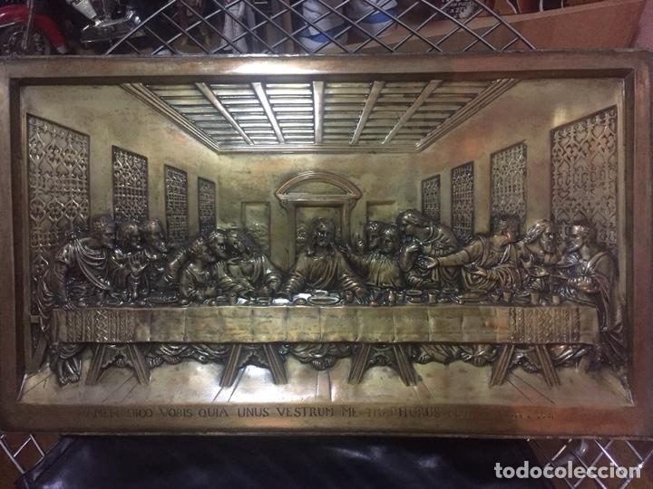 CUADRO LA ÚLTIMA CENA (Antigüedades - Religiosas - Orfebrería Antigua)