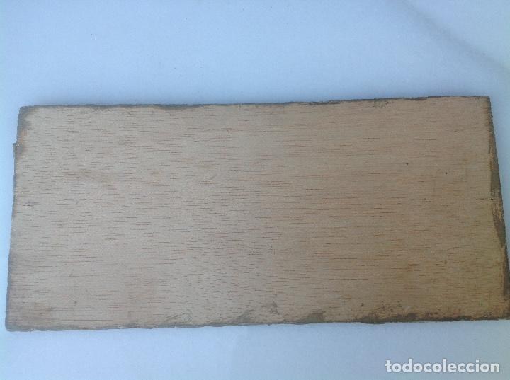 Antigüedades: TABLA CON VIRGEN Y NIÑO. 20x11 cm. - Foto 2 - 127788863