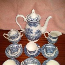 Antigüedades: JUEGO DE CAFÉ INGLÉS FIRMADO MYOTT MEAKIN. 6 SERVICIOS. Lote 127799419
