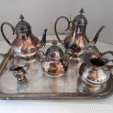 Antigüedades: JUEGO DE CAFE-TE SILVER GENA 6 PIEZAS. Lote 127801127