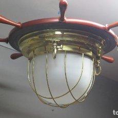 Antigüedades: LAMPARA DE INSPIRACION NAUTICA. MARINERA. Lote 127810819