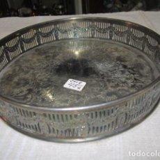 Antigüedades: BANDEJA REDONDA PUEDE SER PLATA INGLESA, MARCA EHP ENGLAND. 20,5 CMS. DIÁMETRO X 4 ALTURA.. Lote 127832863