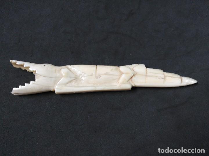 Antigüedades: FIGURA DE COCODRILO EN MARFIL - Foto 8 - 127834575