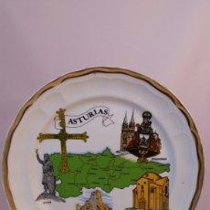 Antigüedades - Plato recuerdo de Asturias porcelana Bidasoa - 127844784