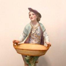 Antigüedades: FIGURA PORCELANA- BISCUIT POLICROMADO- FRANCIA - VION BAURY 1880- 29 CM. Lote 127850847