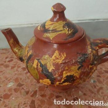Antigüedades: ceramica popular: tetera vidriada - Foto 2 - 127853775