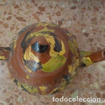 Antigüedades: ceramica popular: tetera vidriada - Foto 3 - 127853775