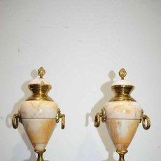 Antigüedades: COPAS ANTIGUAS MÁRMOL Y BRONCE, ESTILO IMPERIO. Lote 127856467