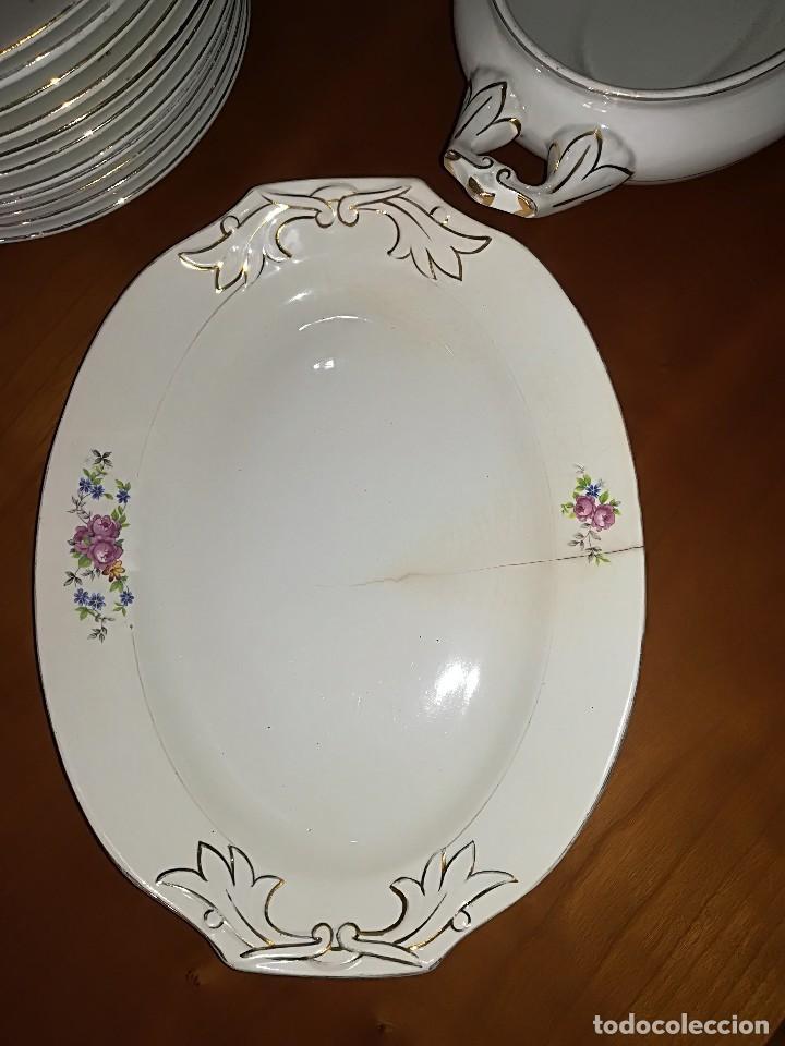Antigüedades: Preciosa Vajilla porcelana Cartuja de Sevilla circa años 40 - Foto 3 - 127889287