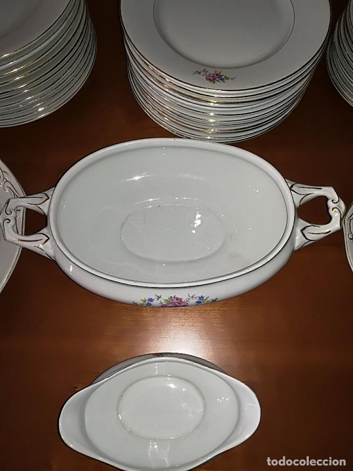 Antigüedades: Preciosa Vajilla porcelana Cartuja de Sevilla circa años 40 - Foto 9 - 127889287