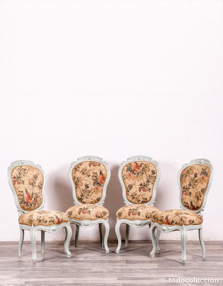 Juego de sillas antiguas restauradas louis comprar sillas antiguas en todocoleccion 127914243 - Sillas antiguas restauradas ...
