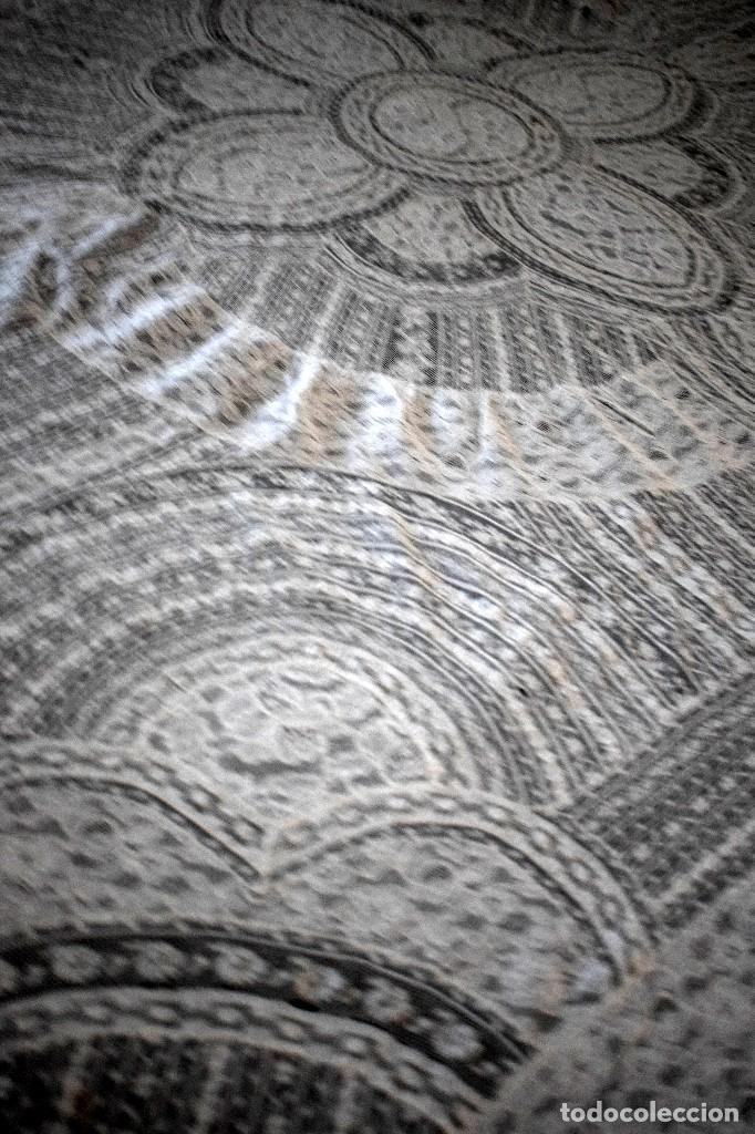 Antigüedades: Colcha antigua encaje valenciennes y alençon modernismo / art decó novia. compatible cama 150 - Foto 4 - 127933551