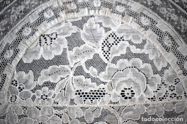Antigüedades: Colcha antigua encaje valenciennes y alençon modernismo / art decó novia. compatible cama 150 - Foto 5 - 127933551