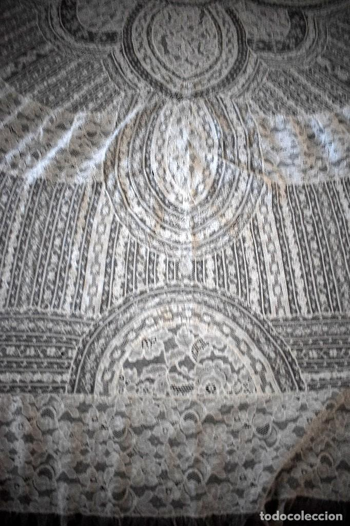 Antigüedades: Colcha antigua encaje valenciennes y alençon modernismo / art decó novia. compatible cama 150 - Foto 25 - 127933551