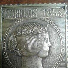 Antiguidades: ANTIGUA PLACA DE BRONCE DE CORREOS. Lote 127961854