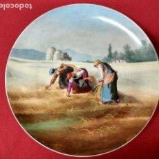 Antigüedades: ANTIGUO PLATO BANDEJA DE PORCELANA 31.5CM. Lote 127971395