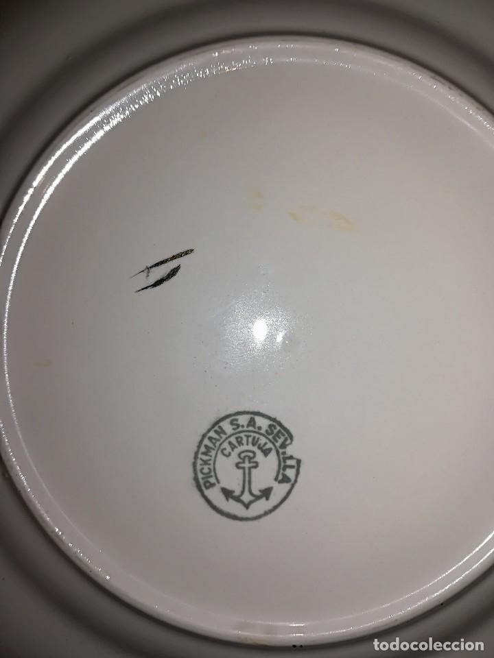 Antigüedades: Preciosa Vajilla porcelana Cartuja de Sevilla circa años 40 - Foto 12 - 127889287