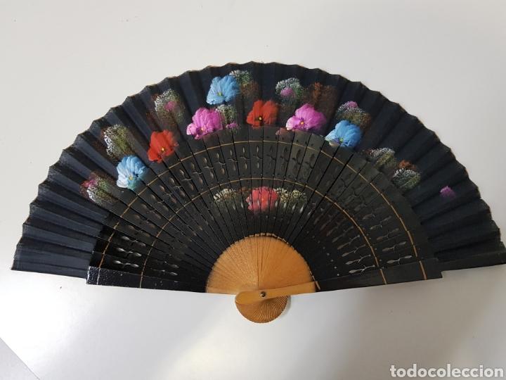 ANTIGUO ABANICO DE MADERA (Antigüedades - Moda - Abanicos Antiguos)