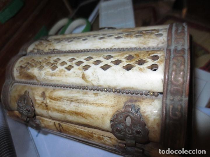 Antigüedades: LOTE CAJAS MADERA ORIENTALES Y UNA CAJA DE HUESO - Foto 4 - 122940763