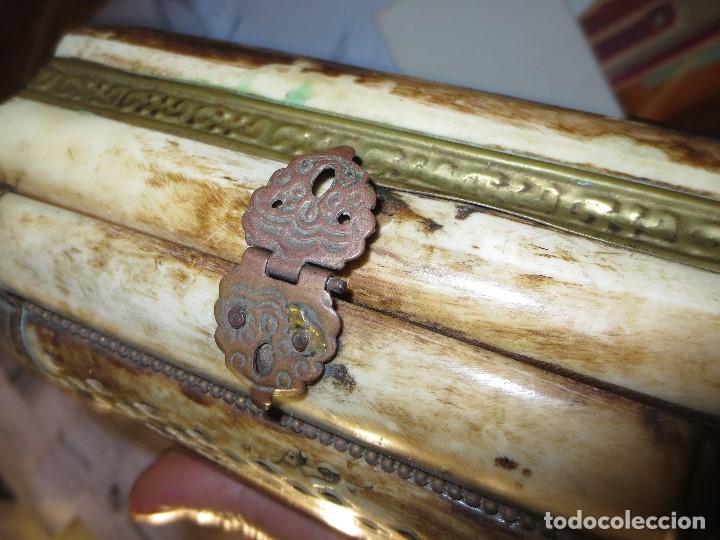 Antigüedades: LOTE CAJAS MADERA ORIENTALES Y UNA CAJA DE HUESO - Foto 6 - 122940763